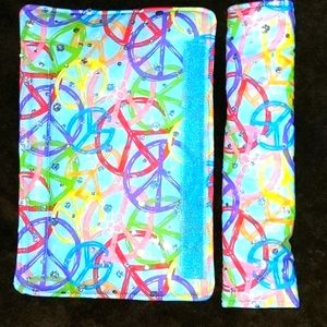 Peace Signs Sparkle Car Seatbelt Cover Pad NEW